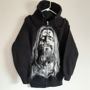 Rob Zombie Sweatshirt Hoodie Zip Up Small